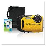 Fuji XP80 Digital Camera Bundle, Tracking Auto Focus, 16 MP, Black