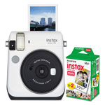 Fuji Instax Mini 70 Bundle, Auto Focus, White