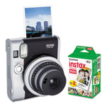 Fuji Instax Mini 90 Neo Classic Camera Bundle, Auto Focus, Black