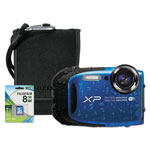Fuji XP90 Digital Camera Bundle, 16 MP, Tracking Auto Focus, Black
