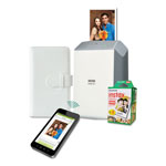Fuji instax SHARE SP-2 Photo Printer Bundle, w/ Mini Film (20 shots); Photo Album