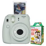Fuji Instax Mini 9 Camera Bundle, w/ (2) AA Batteries;20-Exposure Roll
