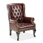 "Fulmarque Queen Anne Side Chair, 29""Wx31""Dx39 1/2""H, Oxblood"