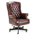 "Fulmarque Executive Vinyl Swivel Chair, 30""x32""x44"" 46"", Oxblood"