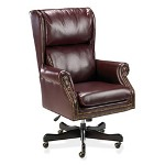 "Fulmarque Traditional Exec Swivel Chair, 29""x32""x45"" 47"", Oxblood"