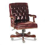 Fulmarque Traditional Series Mid Back Swivel Task Chair, Burgundy Vinyl
