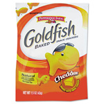 Goldfish® Crackers, Cheddar, Single-Serve Snack, 1.5oz Bag, 72/Carton