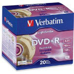 Verbatim LightScribe - DVD+R X 20 - 4.7 GB - Storage Media