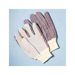 Galaxy Men's Leather Palm Gloves with Knit Wrist, Size Large, Dozen