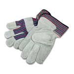 Boardwalk Men's Leather Palm Gloves with Gunn Cut, Size Large, Dozen