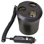 Pyle Audio PL12VP3C 1 TO 3 Cigarette Lighter Multiplier Cupholder Design - Power Converter