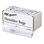 "GBC® 1765010 3000 Series General Office Shredder Bags, 12"" Multipurpose , 25/box, Clear"