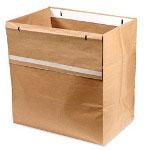 GBC® Shredder Bags, Recyclable, 50/BX, Brown