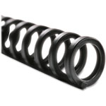 "GBC® Spines, 1/2"" Diameter, Black, 25/Pack"