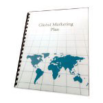 "GBC® Poly Covers, 11.5mil, 11"" x 8-1/2"", 25/Box, Map Silkscreen"