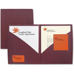 GBC® IMPACT Designer Two Pocket Folder, 11 x 8-1/2, Burgundy, 5/Pack