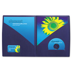 GBC® IMPACT Designer Two Pocket Folder, 11 x 8-1/2, Navy, 5/Pack