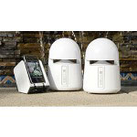 Grace Gdi-Aqblt300 Indoor/Outdoor Wireless Speakers w/Transmitter