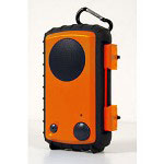 Grace Eco Extreme Rugged and Waterproof Case with Built-In Speaker for iPod, iPhone and MP3 Players, Orange