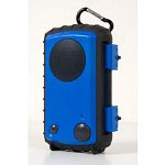Grace Eco Extreme Rugged and Waterproof Case with Built-In Speaker for iPod, iPhone and MP3 Players, Blue