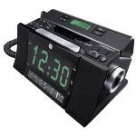 GE Clock Radio Bedroom Phone, Black