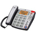 TV Ears Amplified Corded Phone w/ LCD