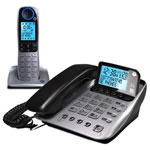 GE Dual handset corded phone with digital a