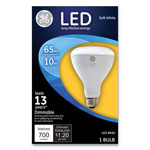 GE LED BR30 Dimmable Soft White Flood Light Bulb, 10W