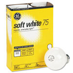 GE General Purpose Soft White Incandescent Bulbs, 75 Watts, 4 Bulbs per Pack