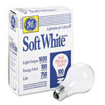 GE General Purpose Soft White Incandescent Bulbs, 100 Watts, 4 Bulbs per Pack