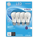 GE LED Daylight A19 Dimmable Light Bulb, 10W, 4/Pack
