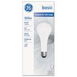 GE Incandescent Basic Bulb, PS25, 300 W, 6120 lm