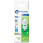 GE Energy Smart Compact Fluorescent Spiral Light Bulb, 26 W, Soft White