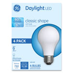GE Classic LED Daylight Non-Dim A19 Light Bulb, 8W, 4/Pack