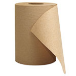 "General Hardwound Roll Towels, 1-Ply, Brown, 8"" x 300 ft, 12 Rolls/Carton"