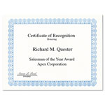 Geographics Certificates for Copier/Laser/Ink Jet, 8-1/2x11, Blue Conventional Border, 50/Pack