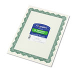 Geographics Optima Green 8-1/2x11 Award Certificates/Gold Seals, 25 Certificates & 25 Seals/Pack