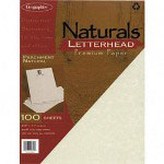 Geographics Collection Matching #10 Envelopes, 60 lb., Parchment Natural, 50/Pack