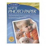 "Geographics Inkjet Photo Paper, Matte, 8-1/2"" x 11"", 25/Pack, Bright White"
