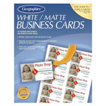 Geographics Standard Business Cards, 65 lb., 3 1/2 x 2, White Matte, 1,000 Cards/Pack