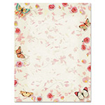 Geographics Design Paper, 24 lbs., Butterflies, 8 1/2 x 11, White, 100/Pack