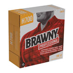 Brawny Medium Weight HEF Shop Towels, 9 1/10 x 16 1/2, 100/Box