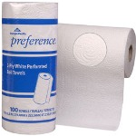 "Georgia Pacific Preference® 27300 White Perforated Roll Paper Towels, 8 13/16"" x 11"""