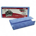 Brawny Moisture Resistant Cleaning Towel, Blue, Pack of 40 Towels