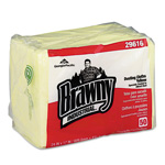 Brawny Quarterfold Dusting Cloths, Yellow, Carton of 200