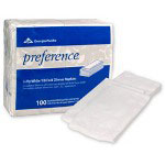 Georgia Pacific Dinner Napkins, White, 2 Ply, Pack of 100