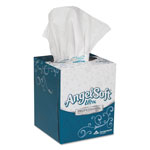 "Angel Soft Ultra Premium Facial Tissue, White, 7.6"" x 8.5"", 96/Box, 36/Carton"