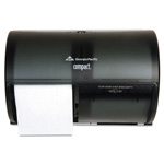 Georgia Pacific Side-By-Side Double Roll Bathroom Tissue Dispenser, Black