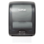 Sofpull Mechanical Hardwound Paper Towel Dispenser, Smoke Black
