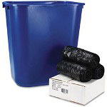 Whitehall Low Density Black Flat-Bottom Trash Bags, 35 Mil, Case of 150